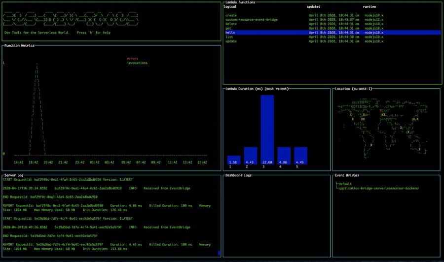 sls-dev-tools console