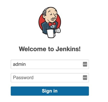 Jenkins Welcome Page.