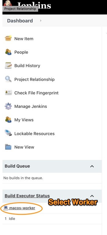 Screenshot of the build executor status section.