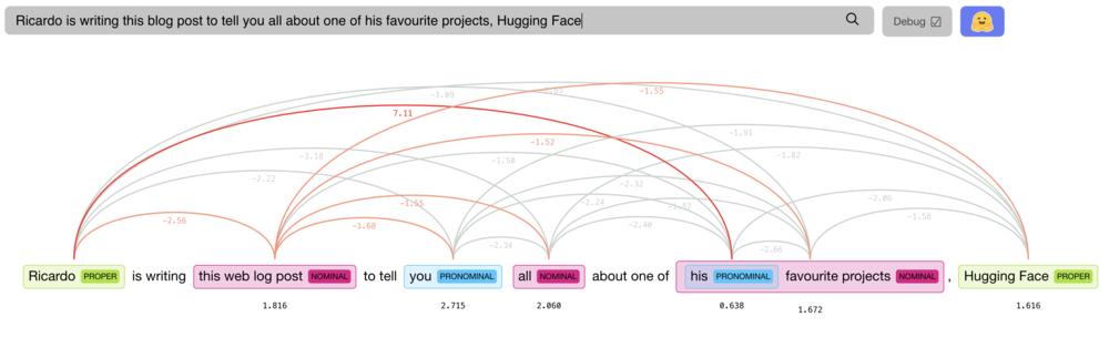 Screenshot of Hugging Face library.