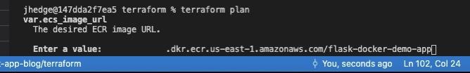 Root module directory when running a Terraform plan.