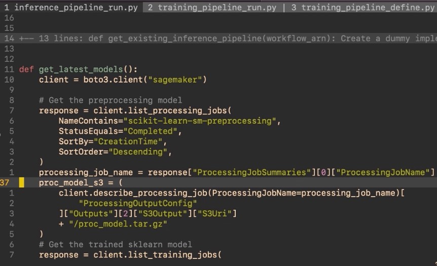 Example of commenting and uncommenting using the Vjj and gc commands.