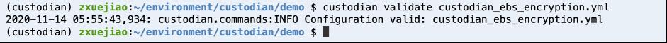screenshot of code running and configuration valid