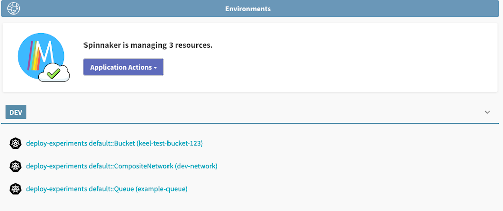 Declarative provisioning of AWS resources with Spinnaker and Crossplane
