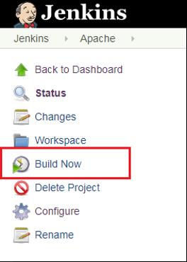 build now option in Jenkins
