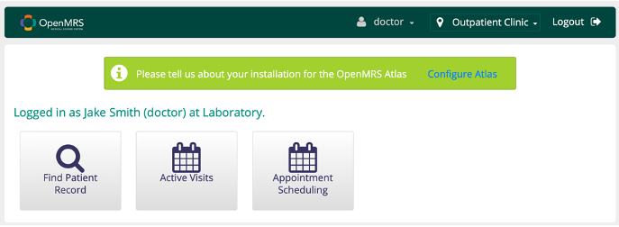 Figure 11: Main login page for a physician or general practitioner.