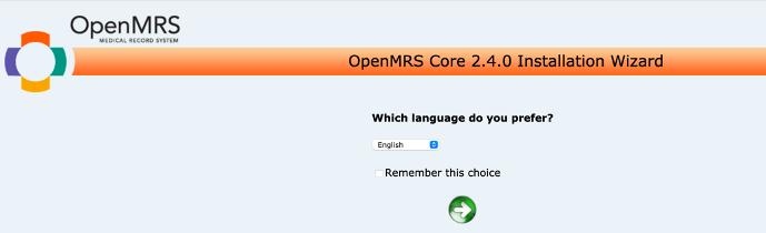 Figure 4: OpenMRS Core 2.4.0 Installation Wizard.