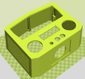 CAD model of device case for simple beer service