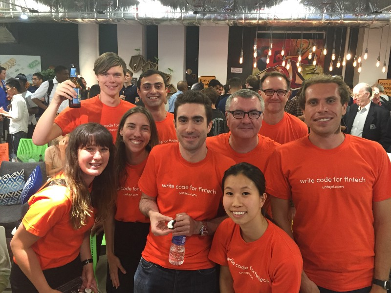 The untapt Team at the AWS Pop-up Loft New York