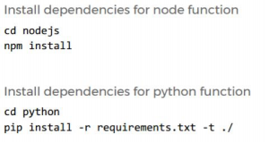 Install and include dependencies before uploading