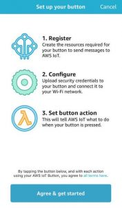 download AWS IoT Button app