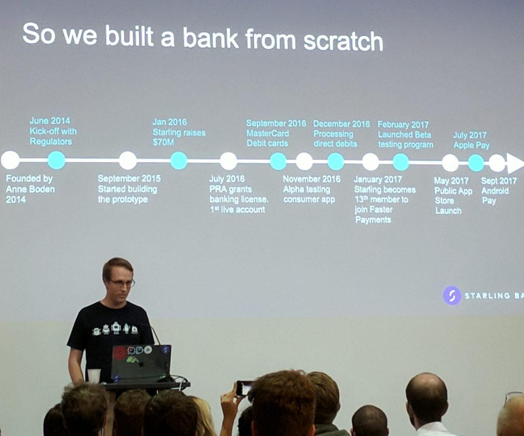 Banks speak at the AWS Startups Loft in London