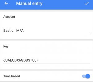 Configuring Google Authenticator