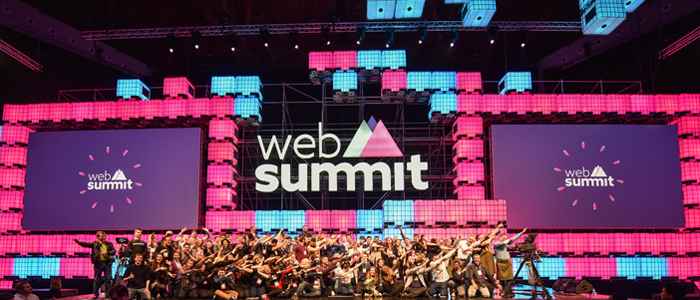 The Web Summit conference hosts startups and entrepreneurs.