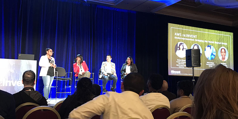 The Underrepresented panel at AWS reInvent 2017