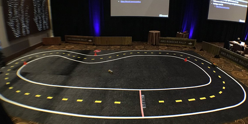 The Robocar Rally track at AWS re:Invent 2017.