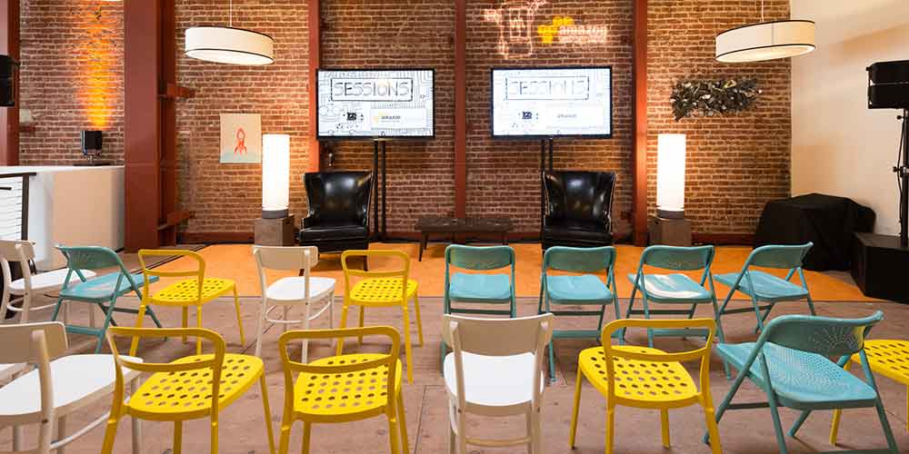 Interior of AWS Popup Loft in San Francisco