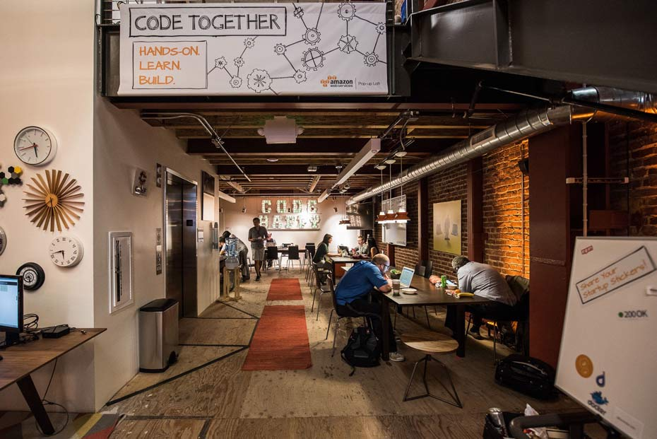 AWS Popup Loft SF Interior