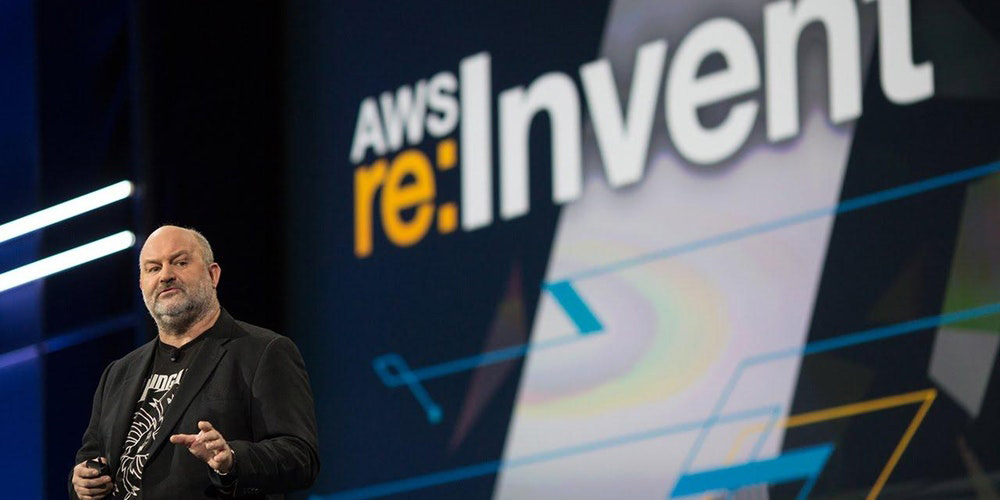 Amazon CTO Werner Vogels speaking at AWS reInvent