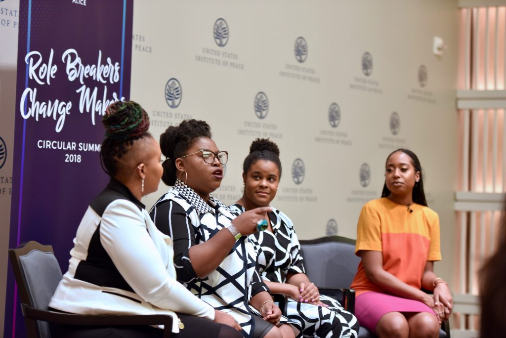 Shelly Bell, Takia Ross, Shay Johnson, Deloris Wilson.Circular Summit 2018