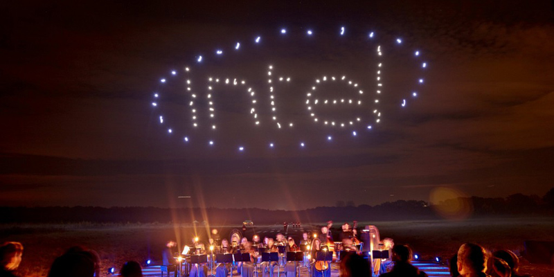 Intel Drone 100 Light Show AWS