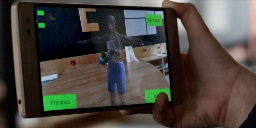 Orbit AR based learning app