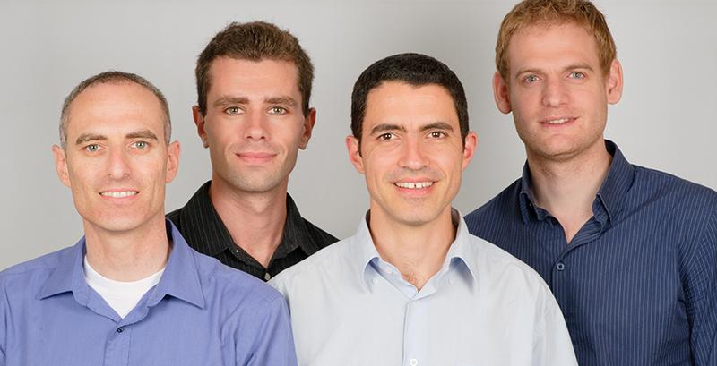 CloudEnd CEO Ofer Gadish, VP Product Leonid Feinberg, CFO Gil Shai, and VP R&D Ofir Ehrlich