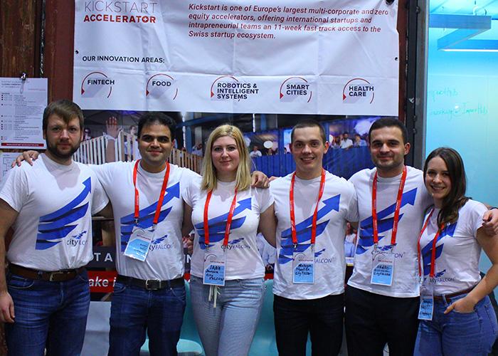 The CityFalcon team in Zurich, Switzerland