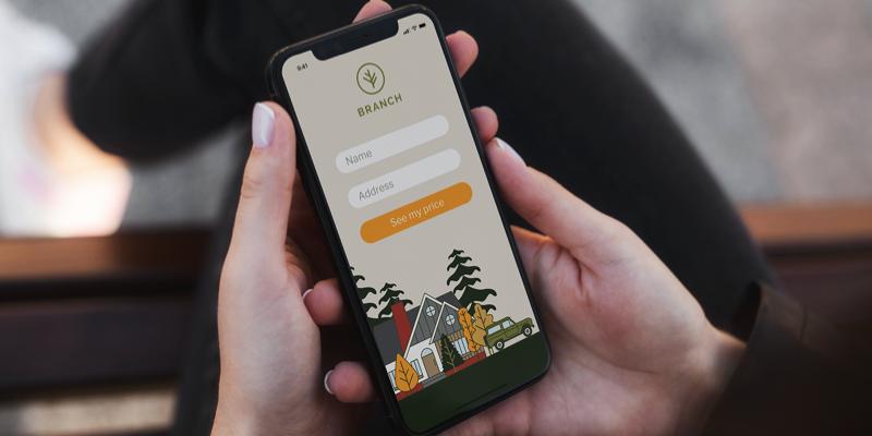 Image of Branch Insurance's mobile app