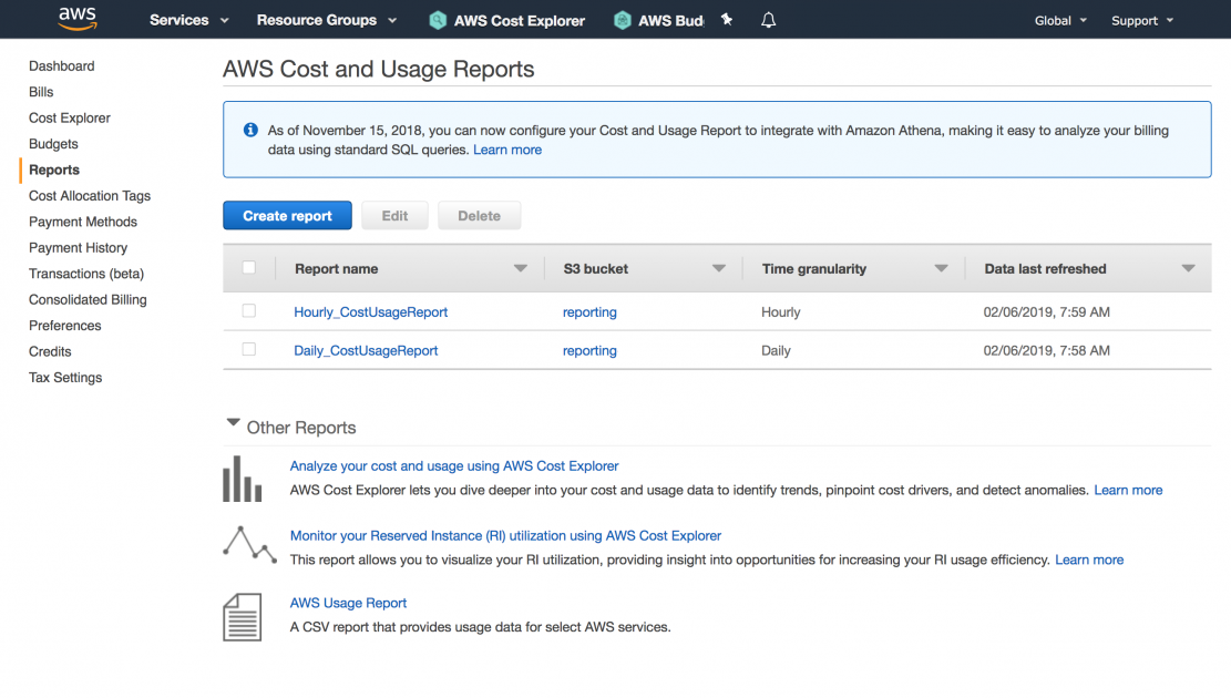 The AWS Cost & Usage Report: The Next Step on Your Cost