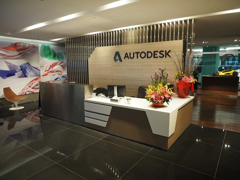 Reception area at Autodesk Singapore