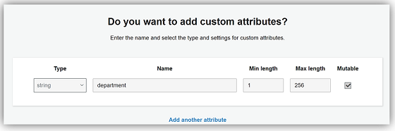 Cognito - CustomAttributes - small