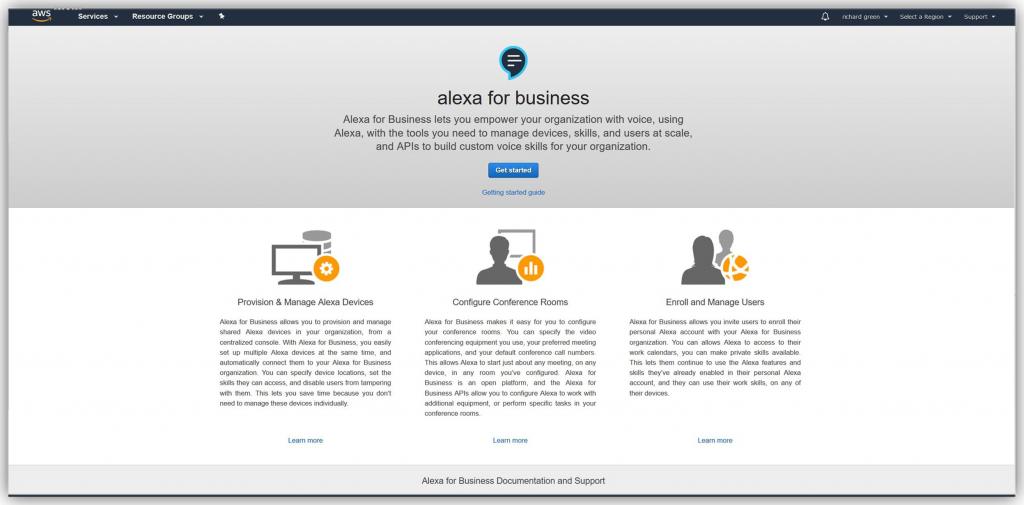 Announcing Alexa for Business: Using Amazon Alexa's Voice Enabled