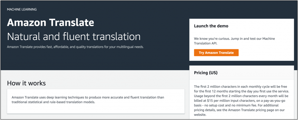 Amazon Translate Now Generally Available | AWS News Blog