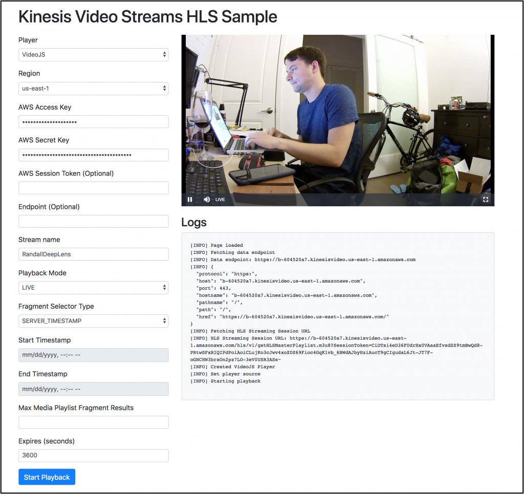 Amazon Kinesis Video Streams Adds Support For HLS Output