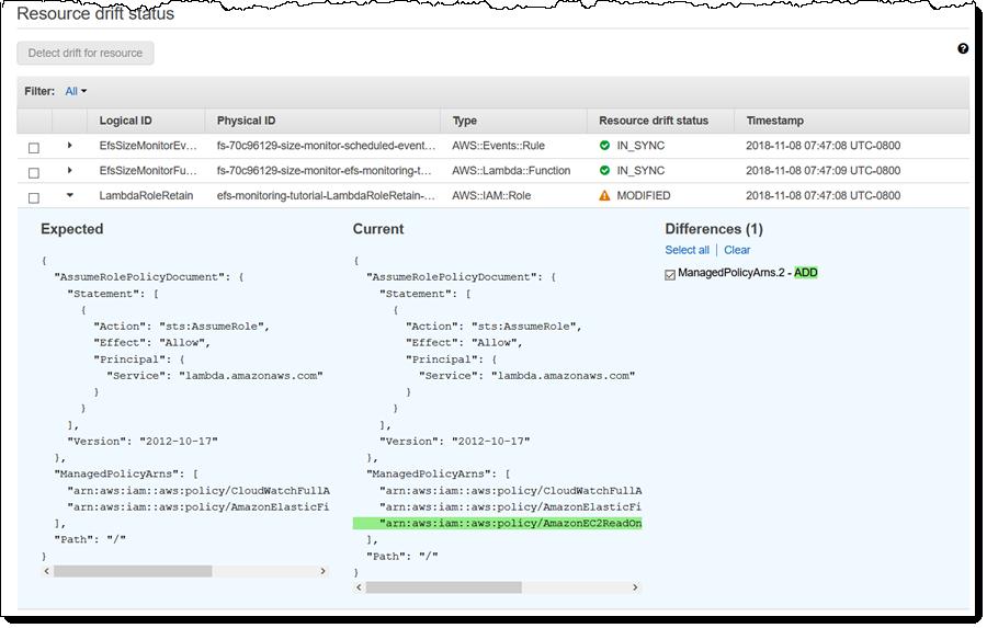 New – CloudFormation Drift Detection | Amazon Web Services