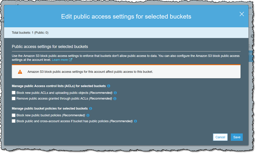 Amazon S3 Block Public Access – Another Layer of Protection for Your