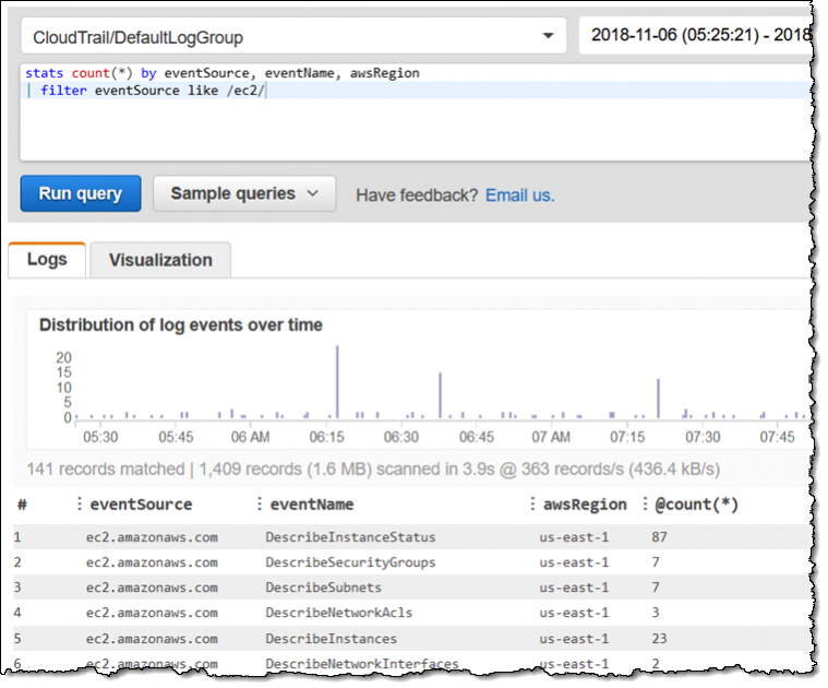 New – Amazon CloudWatch Logs Insights – Fast, Interactive Log Analytics | Amazon Web Services