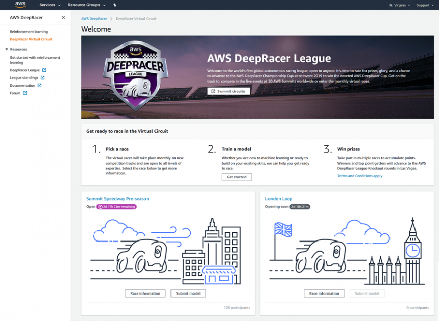 The AWS DeepRacer League Virtual Circuit is Now Open – Train Your