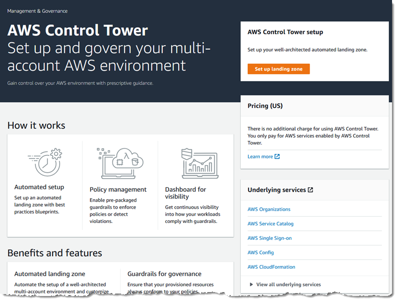AWS Control Tower – Set up & Govern a Multi-Account AWS Environment