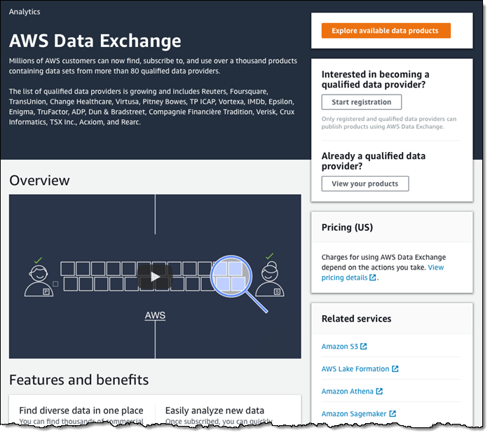 AWS Data Exchange – Find, Subscribe To, and Use Data Products | Amazon Web Services