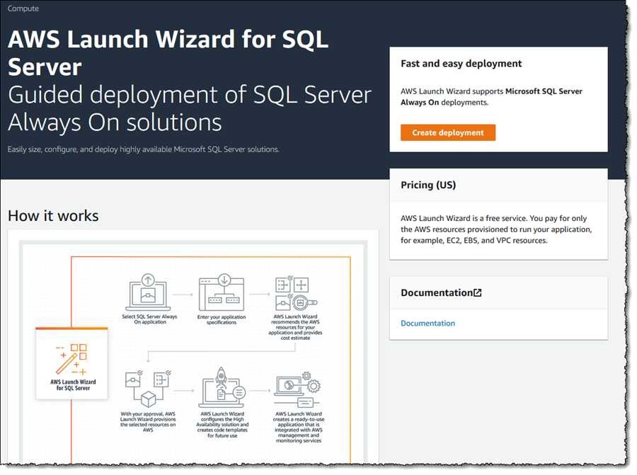 AWS Launch Wizard for SQL Server