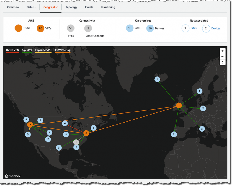 New for AWS Transit Gateway – Build Global Networks and Centralize Monitoring Using Network Manager