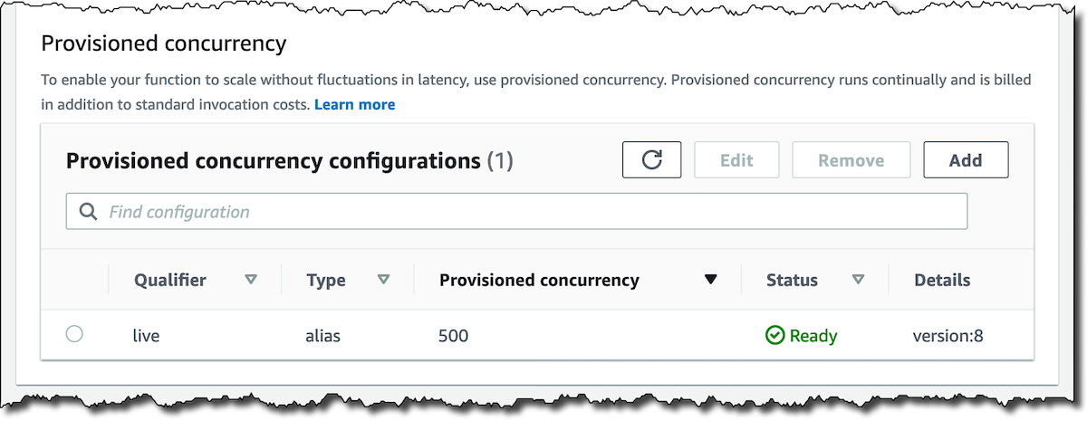 New – Provisioned Concurrency for Lambda Functions