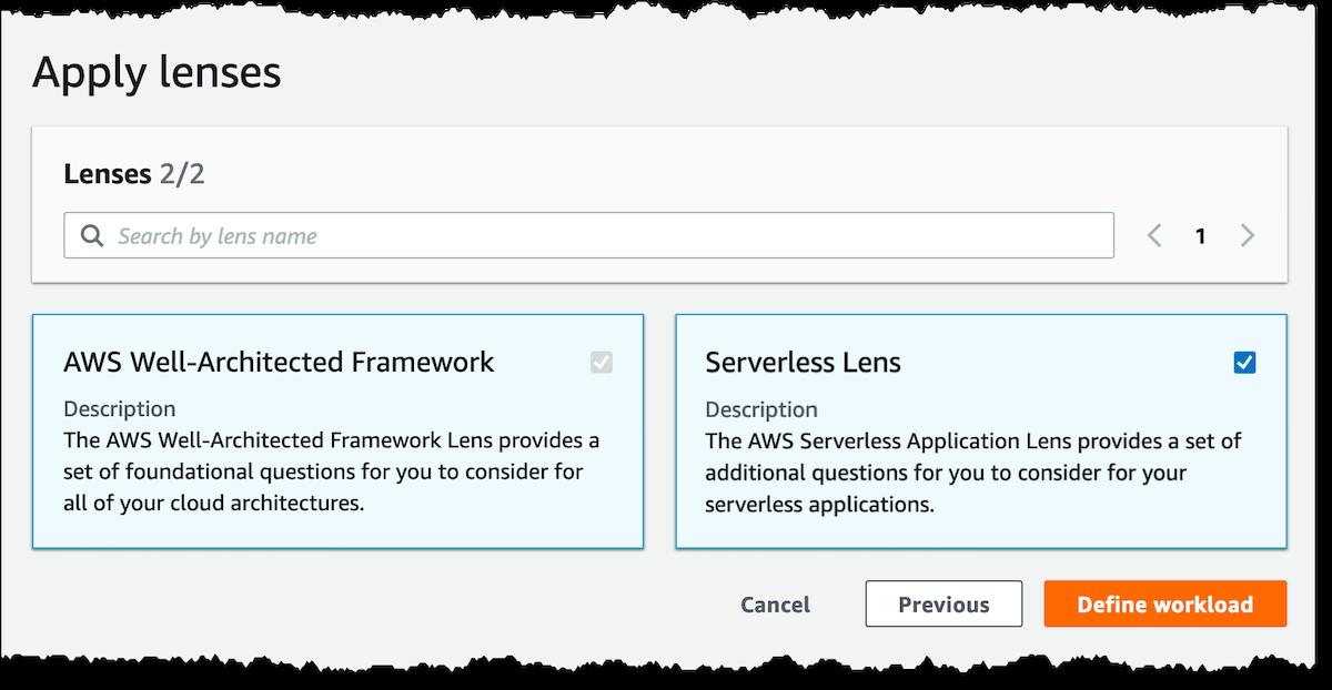 New – Serverless Lens in AWS Well-Architected Tool
