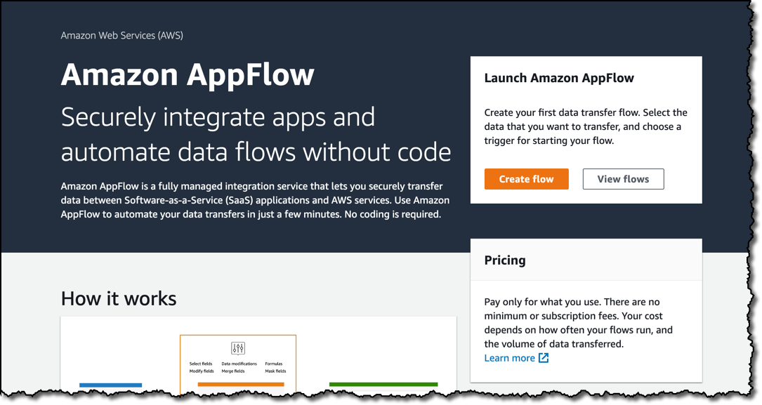 Image of article 'New    –    Announcing Amazon AppFlow'