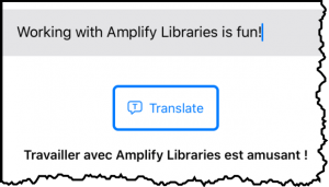 Amplify Mobile demo translation
