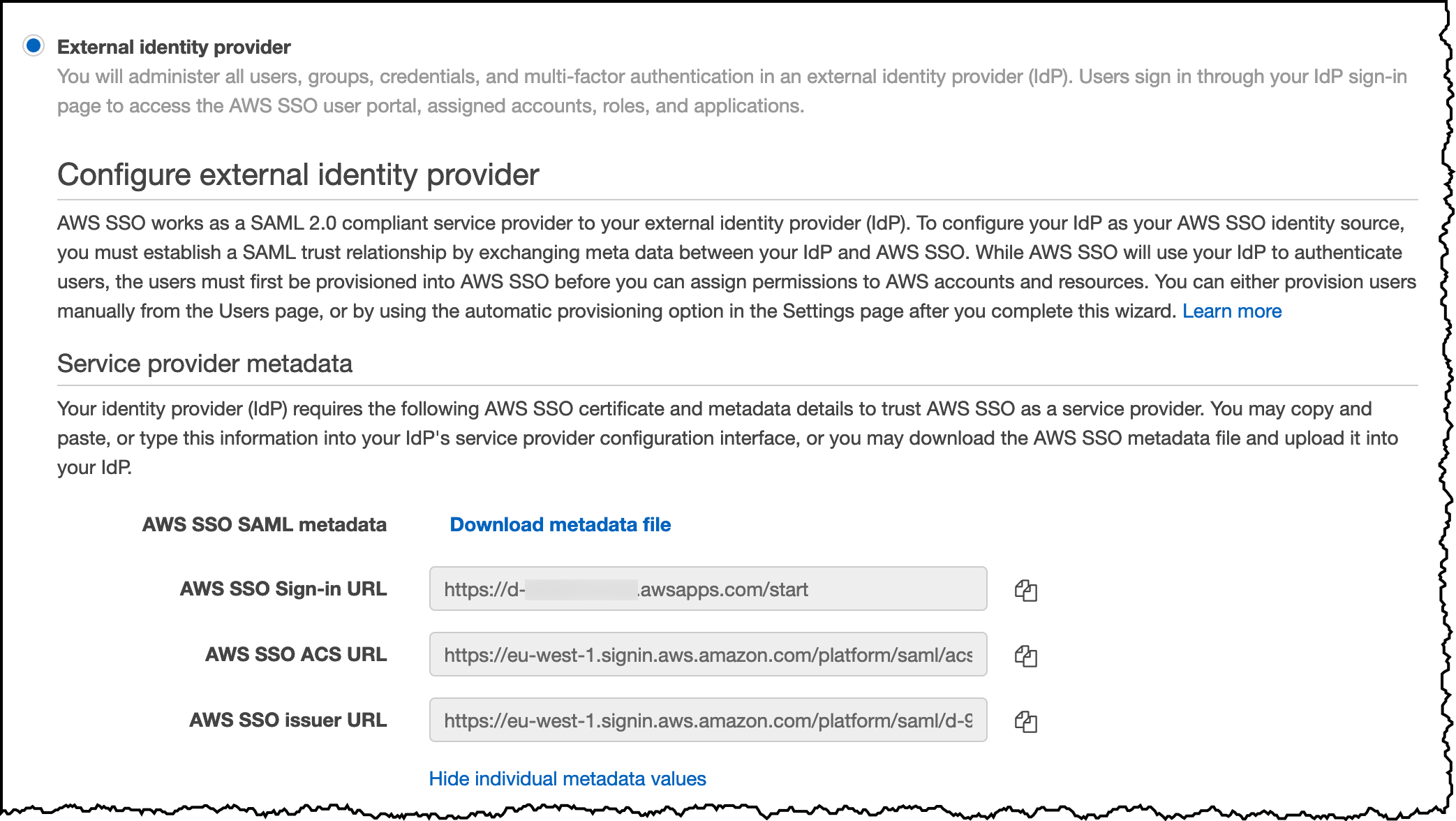 AWS SSO Save URLs