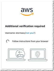 Additional verification required