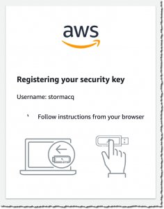 Register a security key